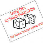 Boy Mama Teacher Mama | Using Dice to Teach Math Skills