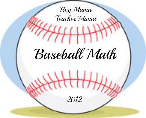 Boy Mama Teacher Mama: Baseball Math