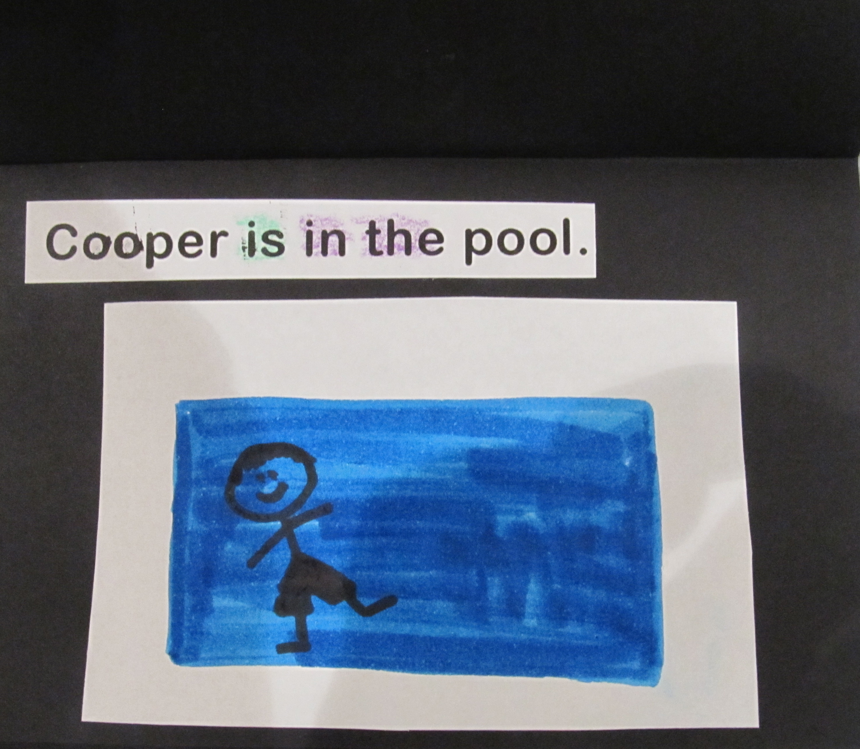 Sight Word Book Cooper Likes to Swim