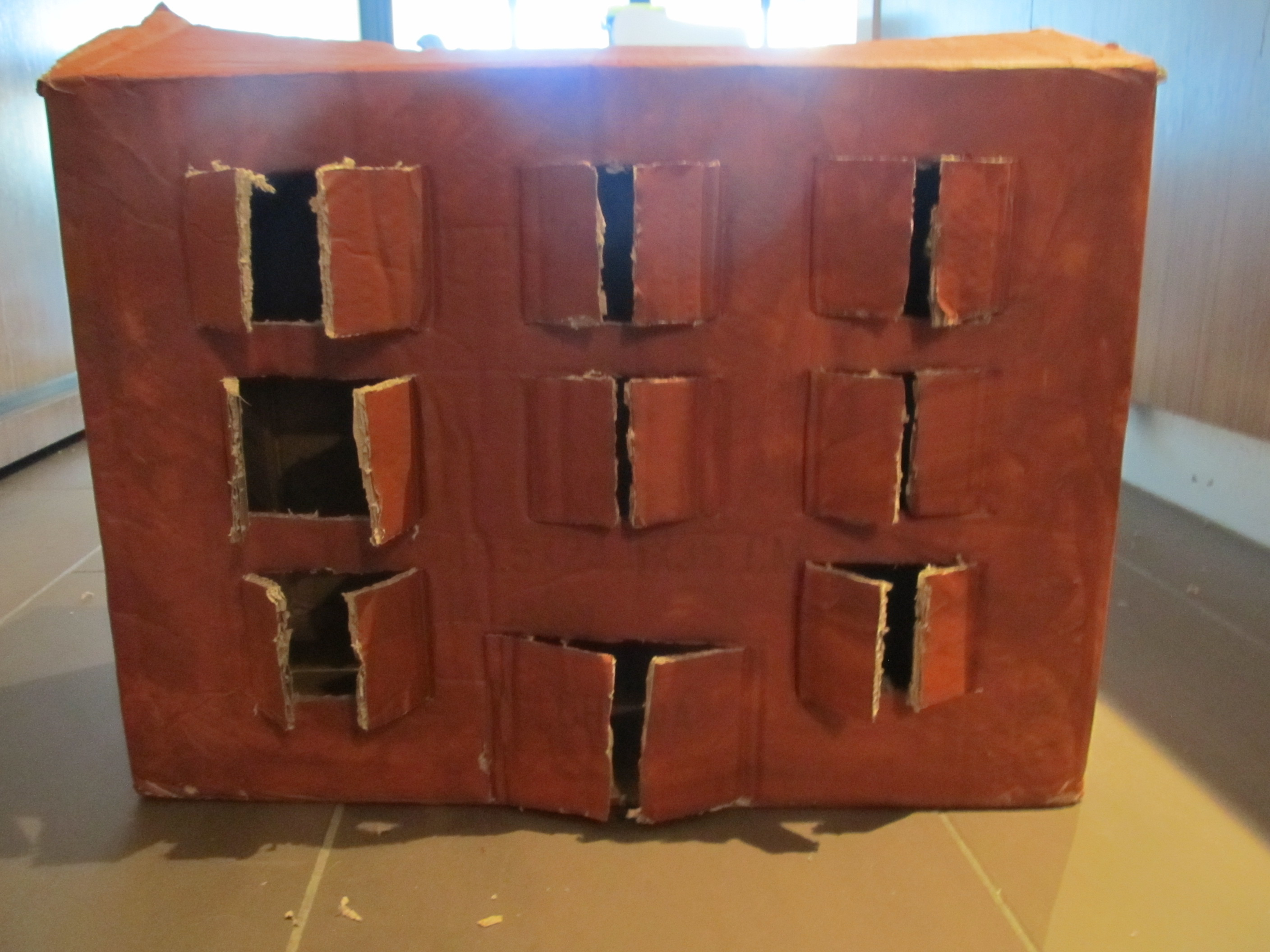 Cardboard Box Use #2,490 (A Burning Building)