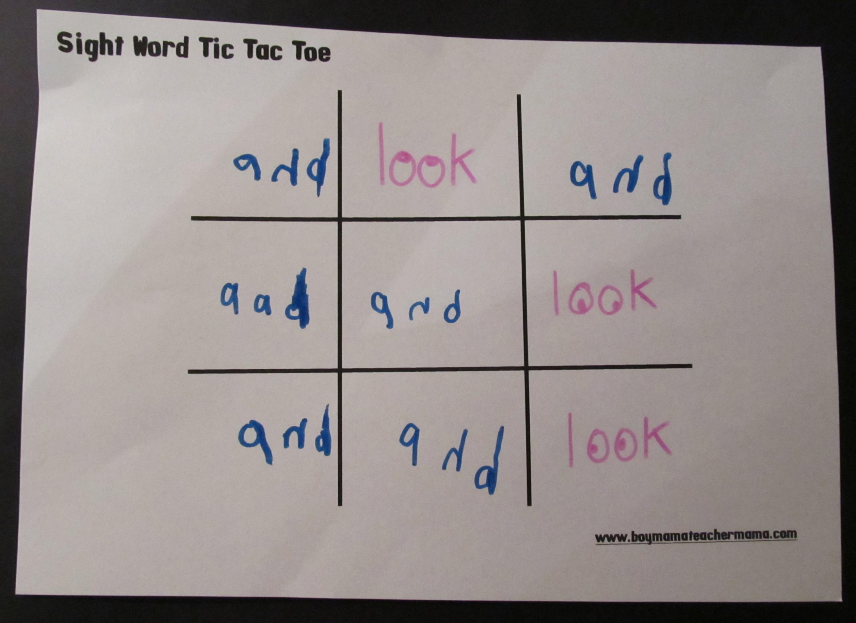Teacher Mama: Sight Word Practice Made Fun - Boy Mama Teacher Mama