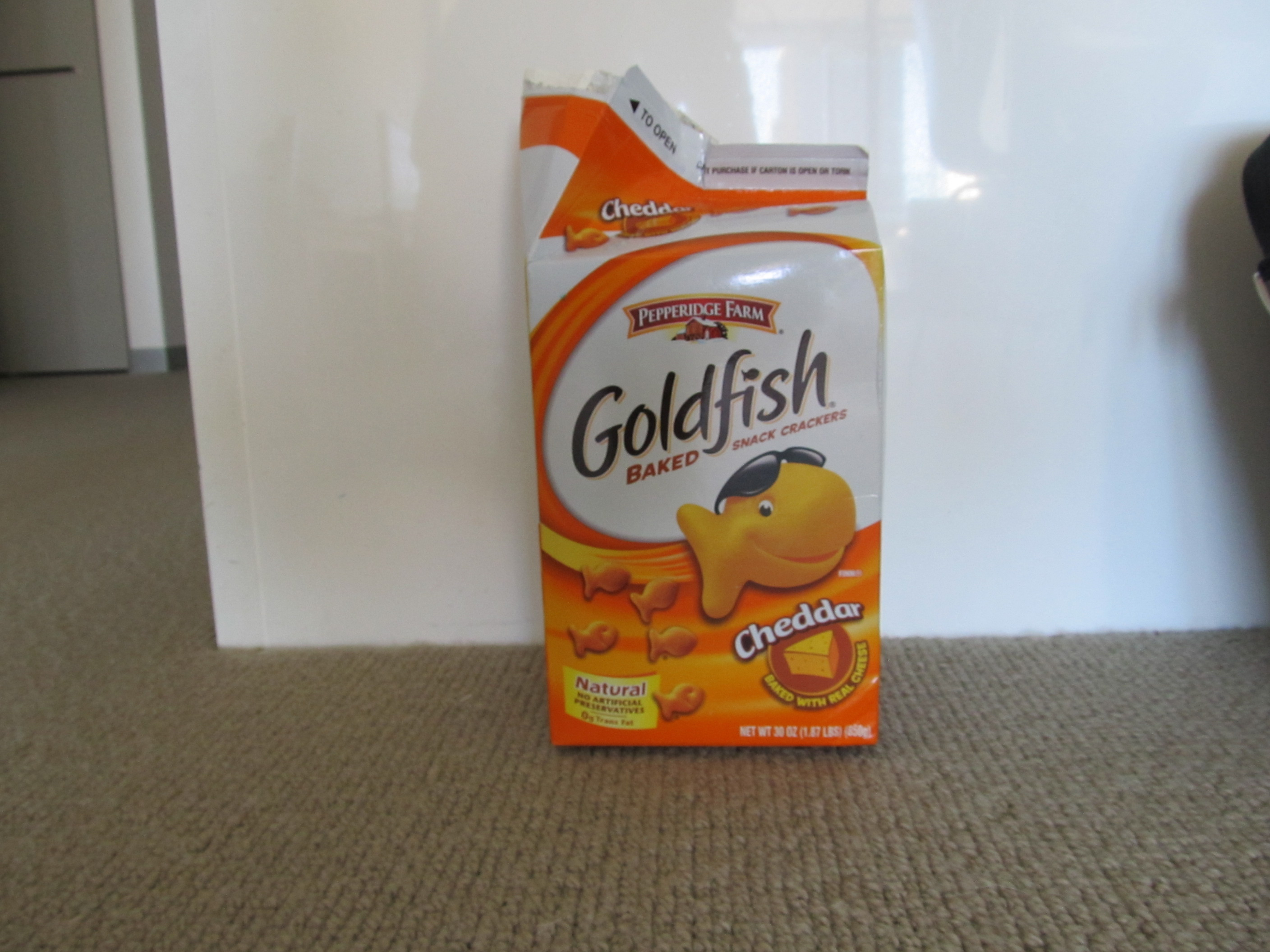 1- die from goldfish container