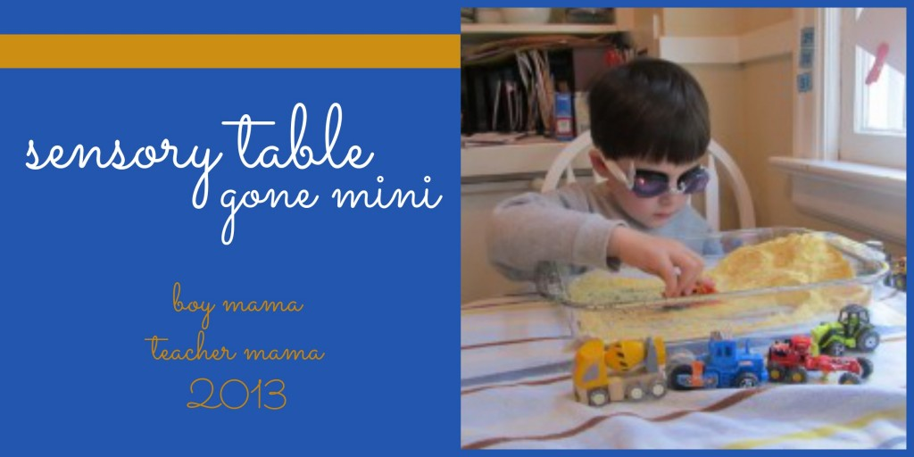 Boy Mama Teacher Mama | Sensory Table Gone Mini