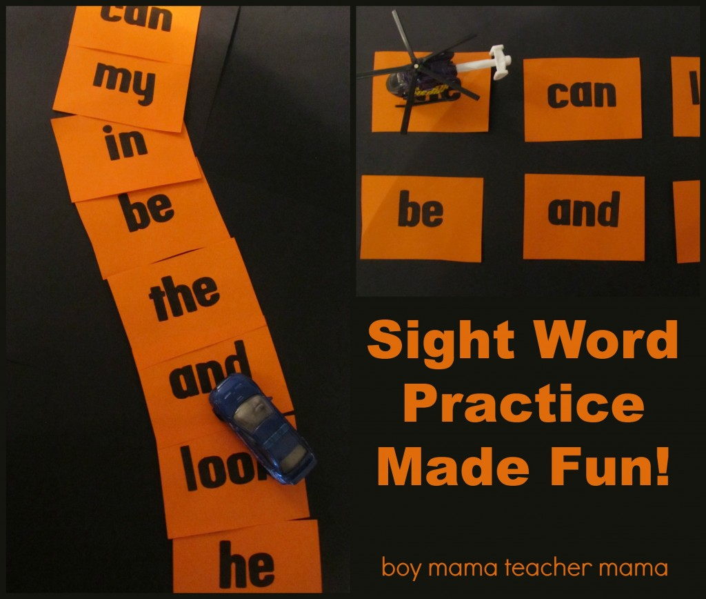 Boy Mama Teacher Mama | Sight Word Practice Made Fun