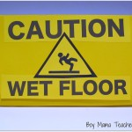 caution wet floor homemade sign