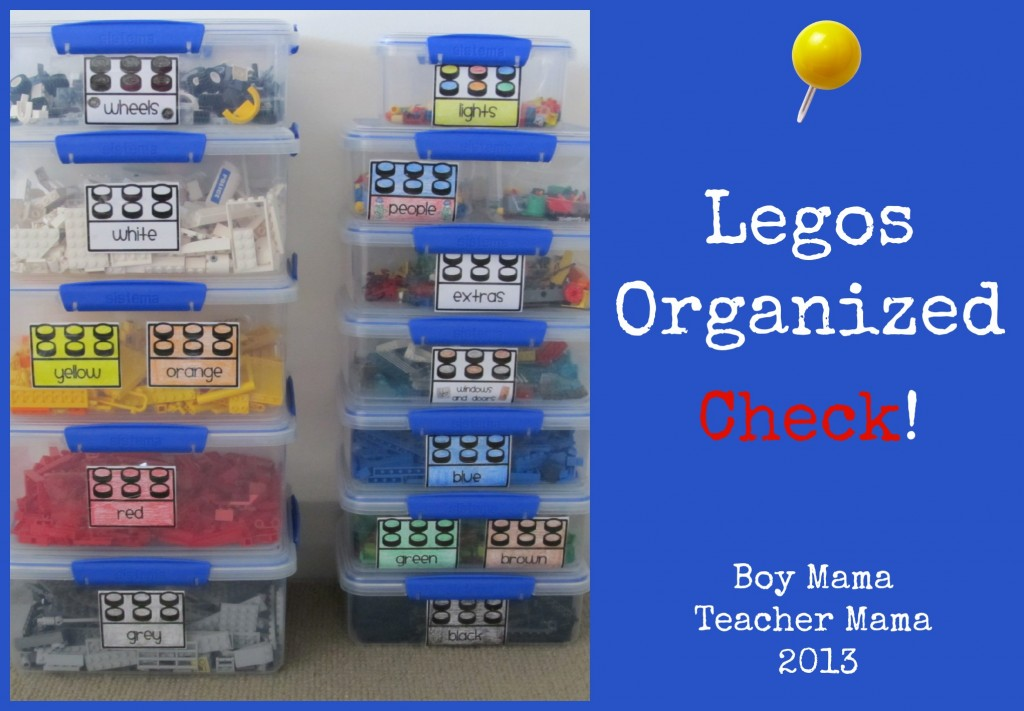 Boy Mama Teacher Mama | Legos Organized Check!