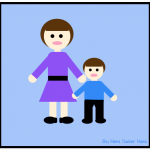 Boy Mama Teacher Mama- mother and son image