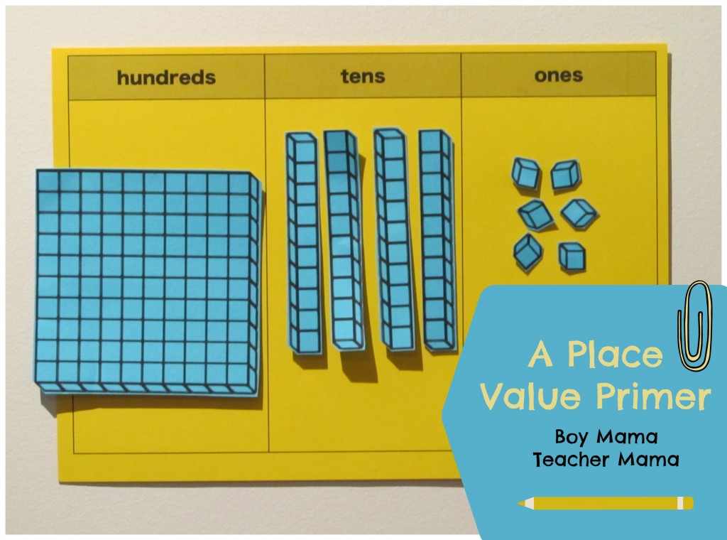 Boy Mama Teacher Mama Place Value Primer