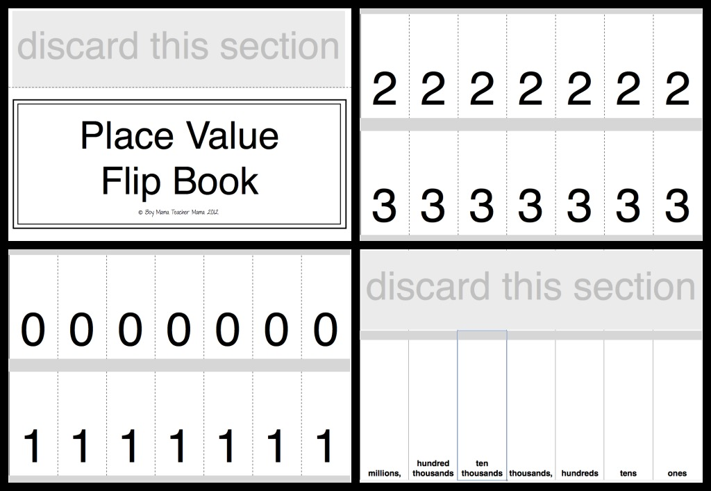 Place Value Practice With A Flip - Boy Mama Teacher Mama
