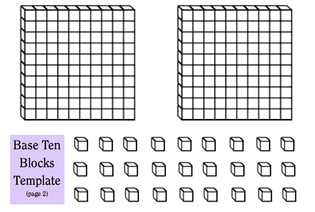 Base Ten Blocks Printable Scalien – Division with Base Ten Blocks Worksheets