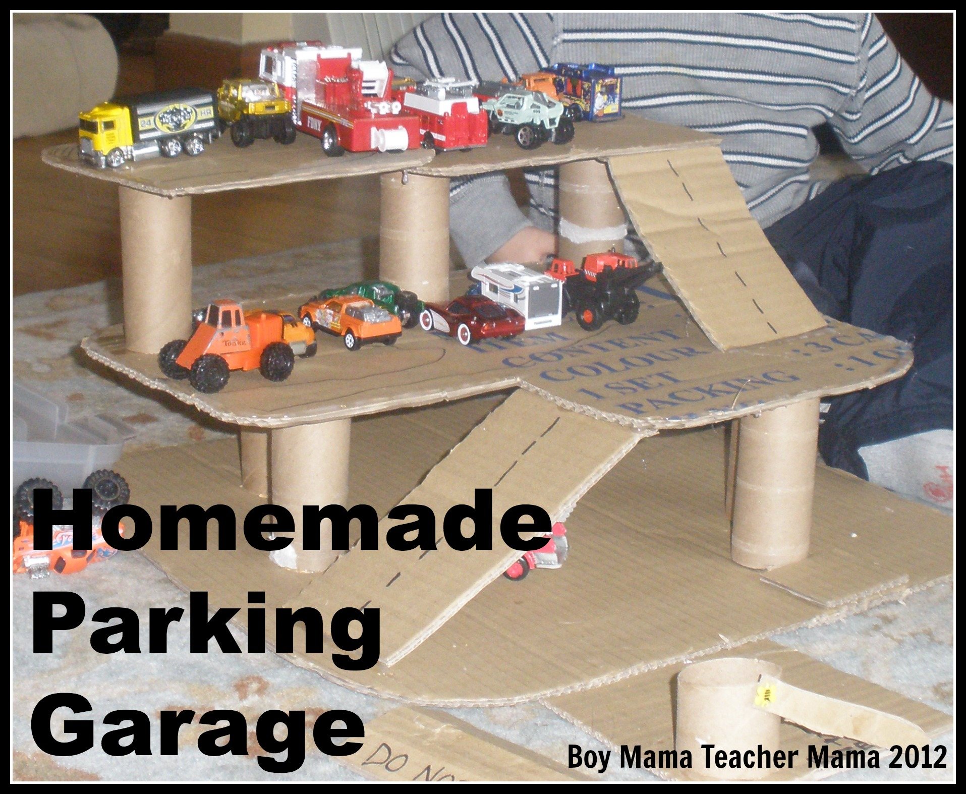 Boy Mama Homemade Parking Garage Boy Mama Teacher Mama