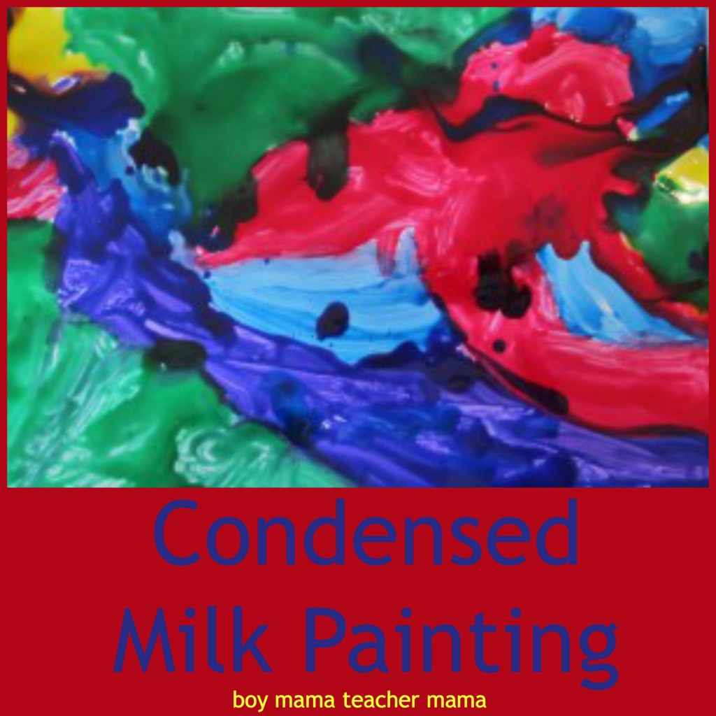 boy mama teacher mama  condensed milk painting