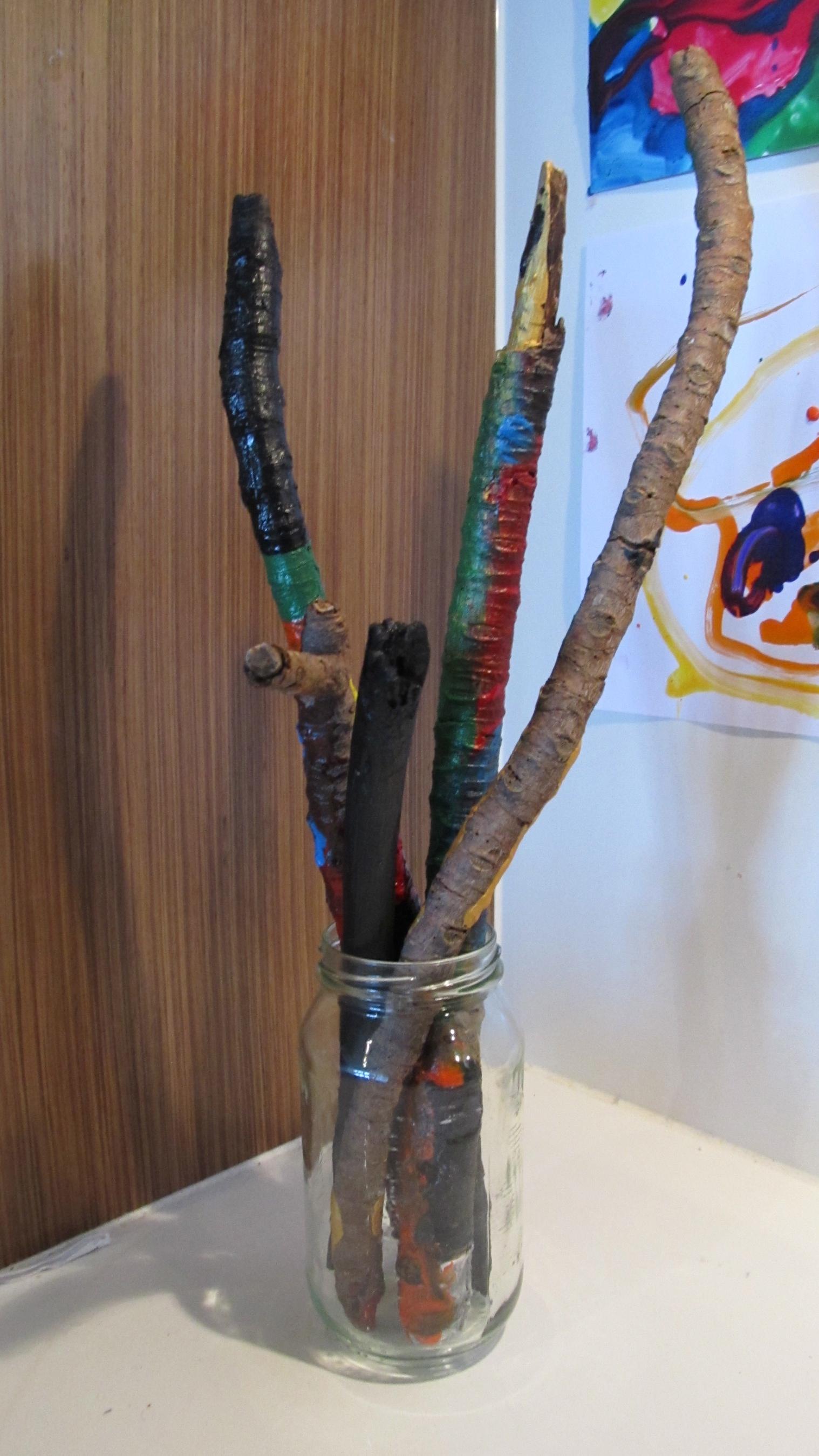 Boy Mama: Trendy to Our Home- Painting Sticks - Boy Mama Teacher Mama