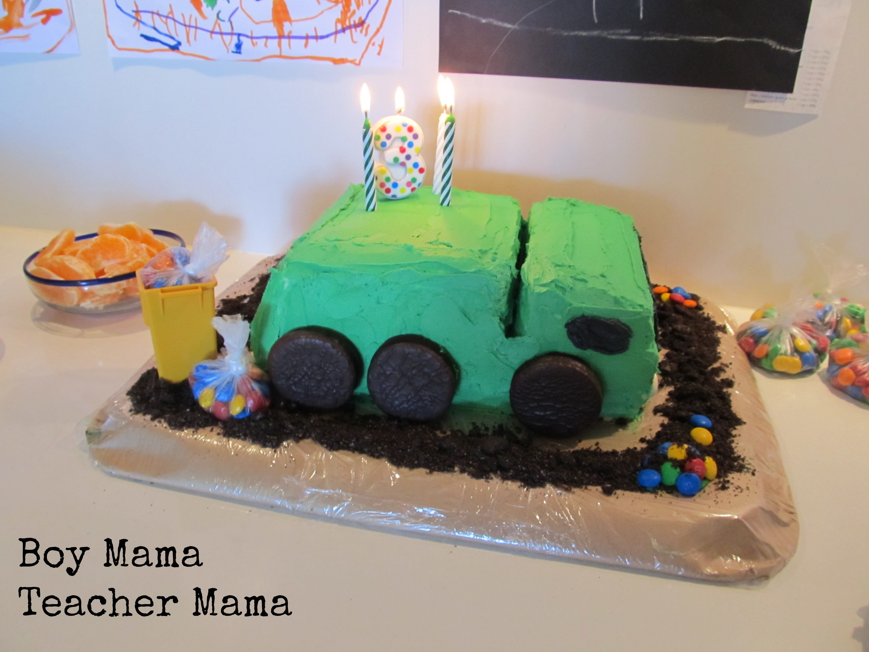 Boy Mama A Trashy Celebration A Garbage Truck Birthday Party Boy