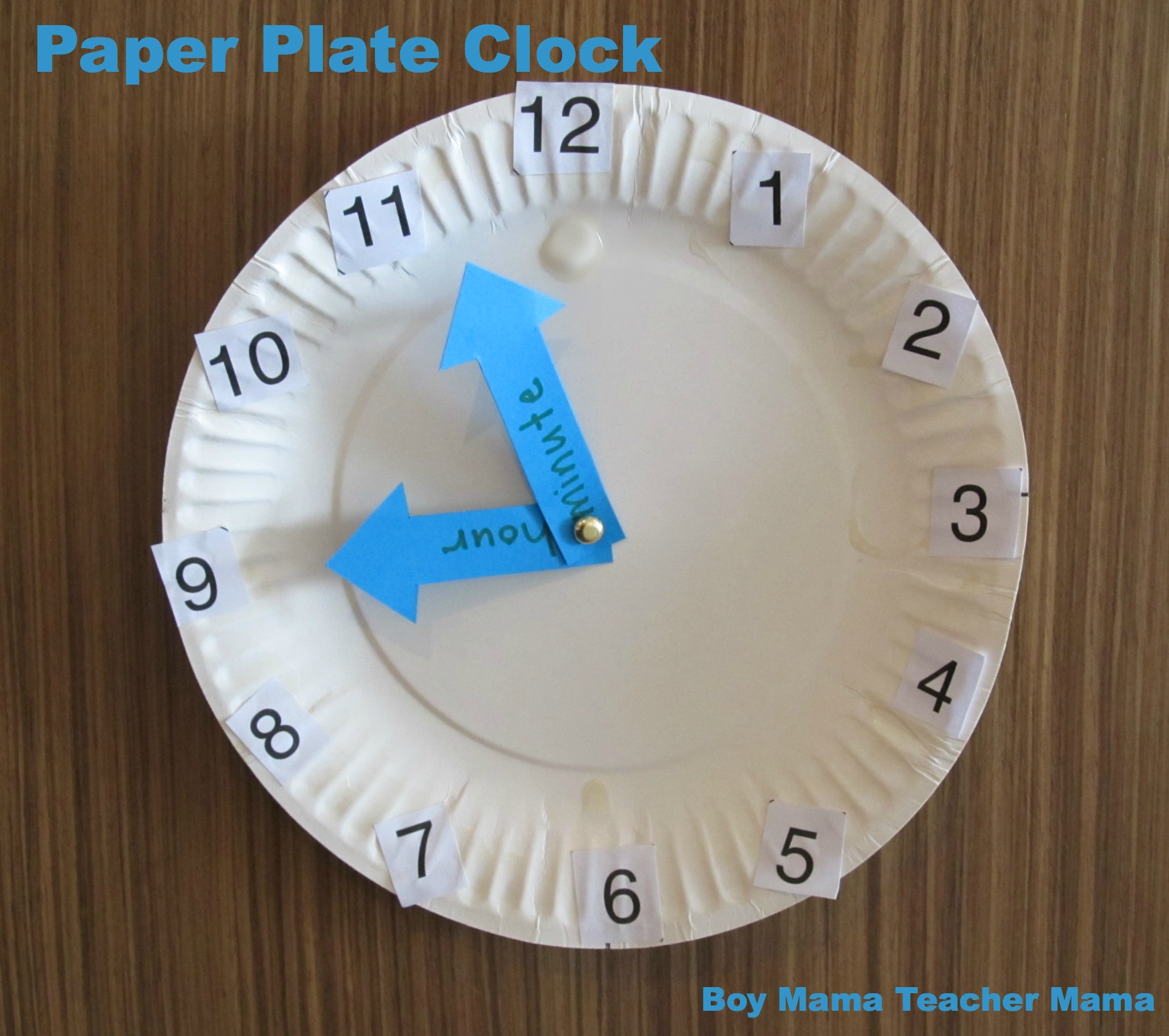 BMTM Paper Plate Clock & BMTM Paper Plate Clock - Boy Mama Teacher Mama