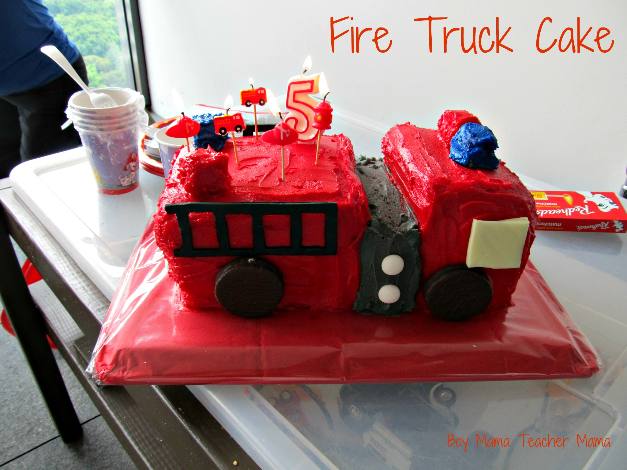 Cake Decorating How To Make Fire : Boy Mama: A Firefighter Birthday Party - Boy Mama Teacher Mama