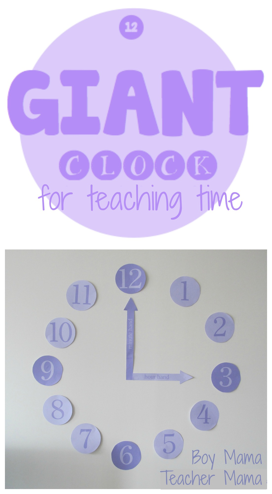 Teaching Time Clocks Clock For Teaching Time