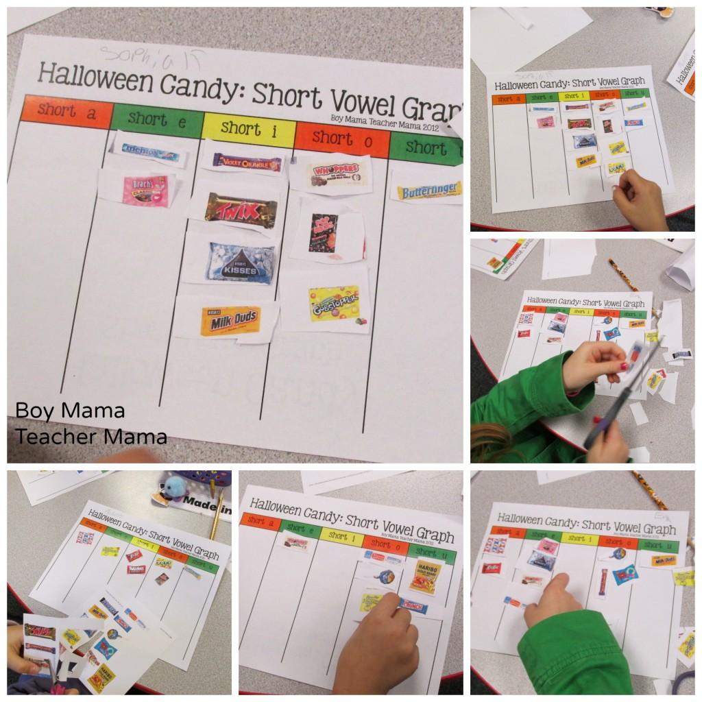 Boy Mama Teacher Mama  Halloween Candy Short Vowel Graph