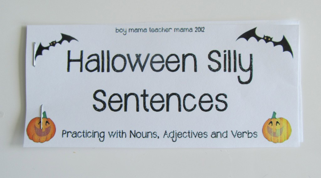 Boy Mama Teacher Mama | 4 Halloween Writing Activities