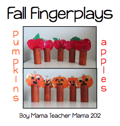 Boy Mama Teacher Mama | Fall Fingerplays