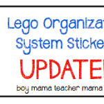 Lego Organization Stickers