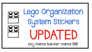 Lego Organization Stickers