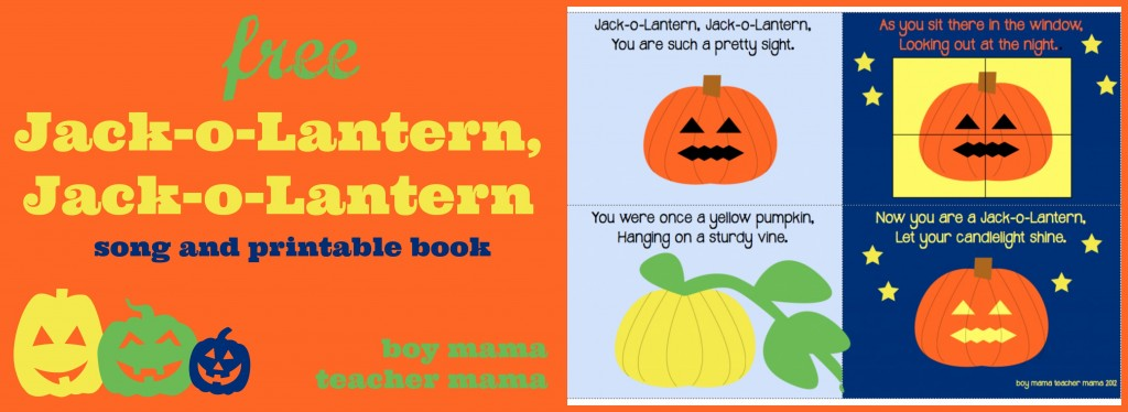 Boy Mama Teacher Mama | FREE Jack-o-Lanter Jack-o-Lantern Book