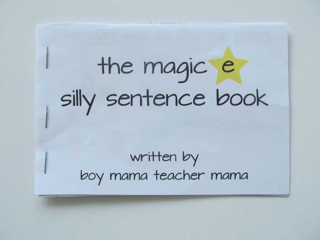 Boy Mama Teacher Mama: Teaching the Magic e