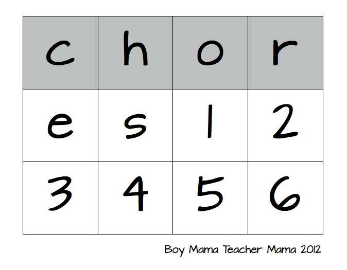 Boy Mama Teacher Mama: Easy Homework Chart