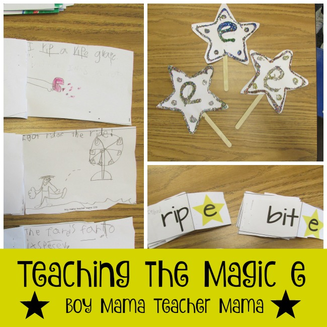 Boy Mama Teacher Mama  Teaching the Magic e (featured)