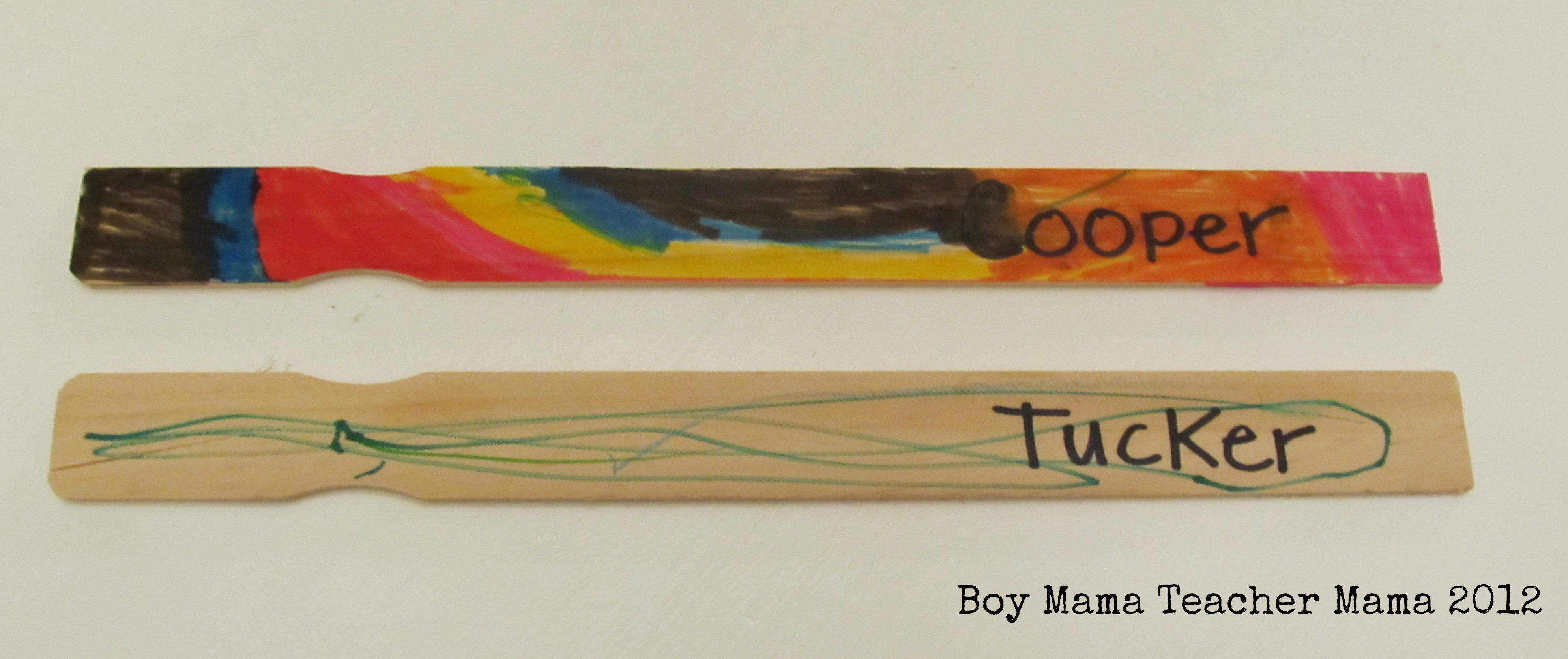 Mama: 7 Uses for Paint Mixing Sticks in the Classroom - Boy Mama ...