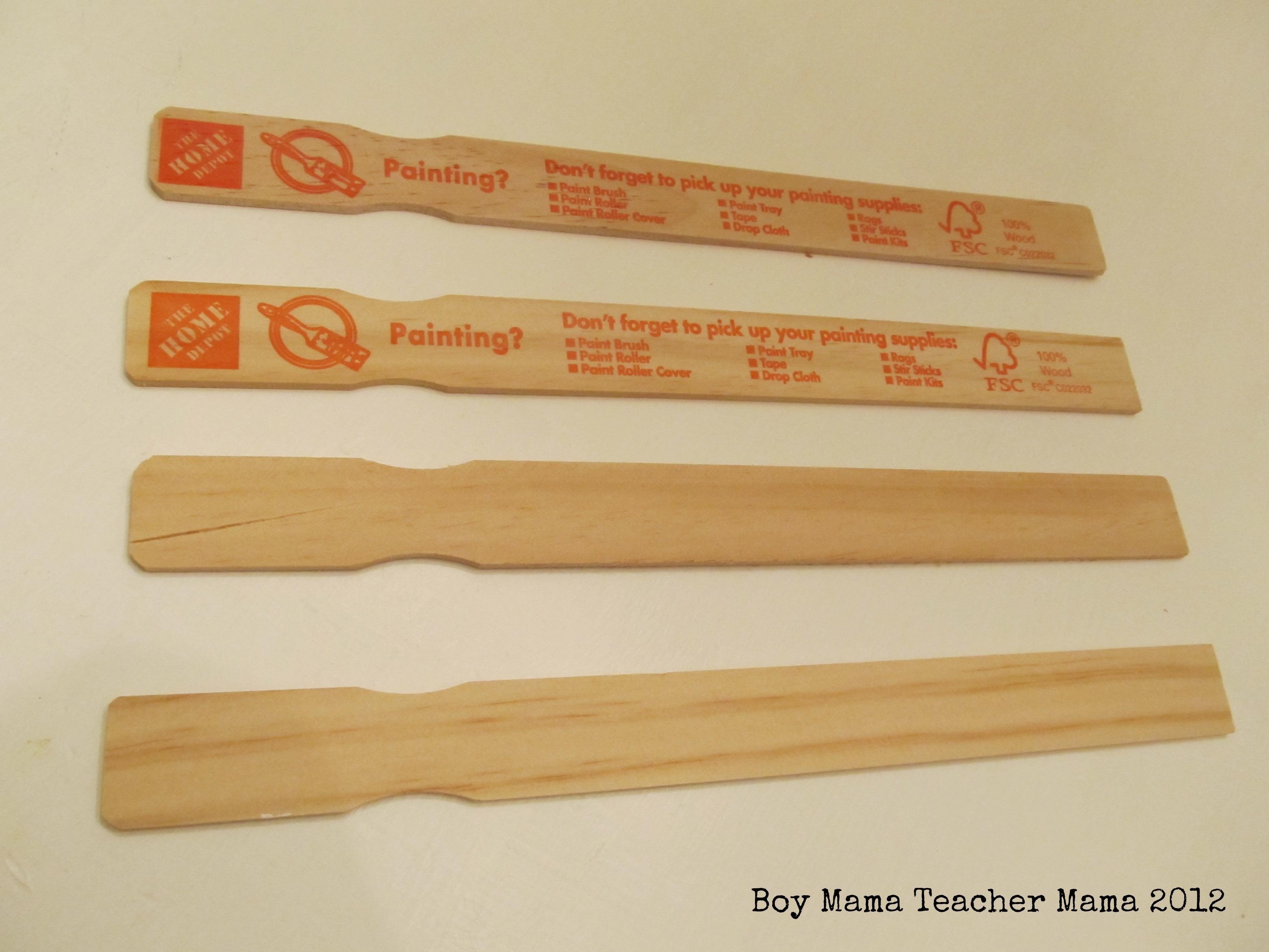 Wooden Paint Stir Sticks Home Depot