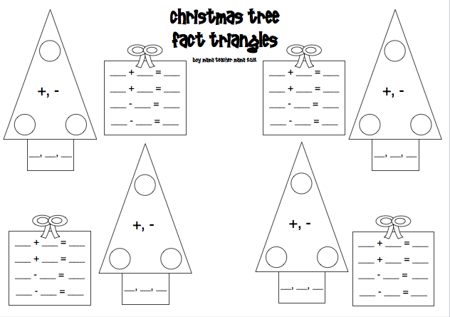 Common Worksheets » Fact Triangles Worksheets - Preschool and ...