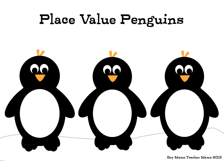 Penguin Place Value A Game for Practicing Building Big Numbers