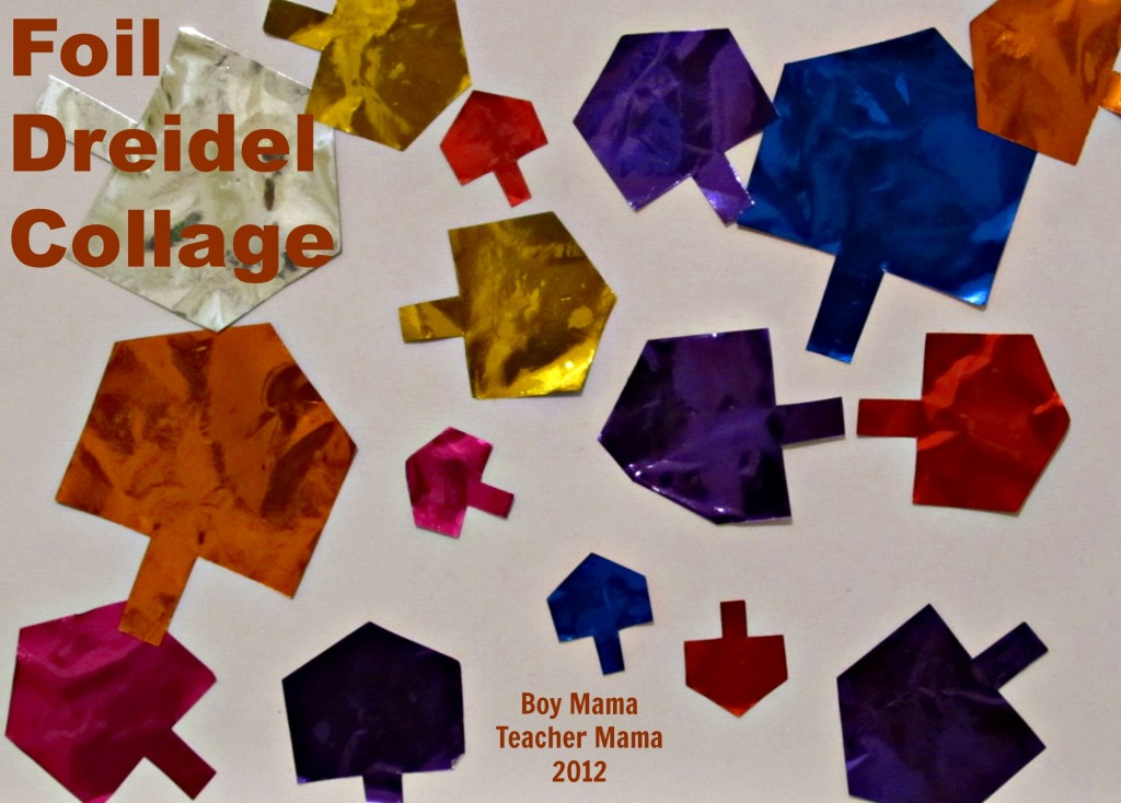 boy mama teacher mama: foil dreidel collage