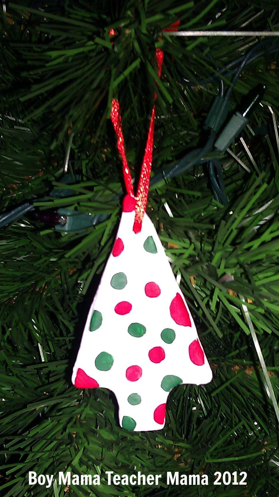 Christmas name ornaments - Boy Mama Teacher Mama Creating Clay Ornaments