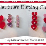 boy mama: valentine's display clips