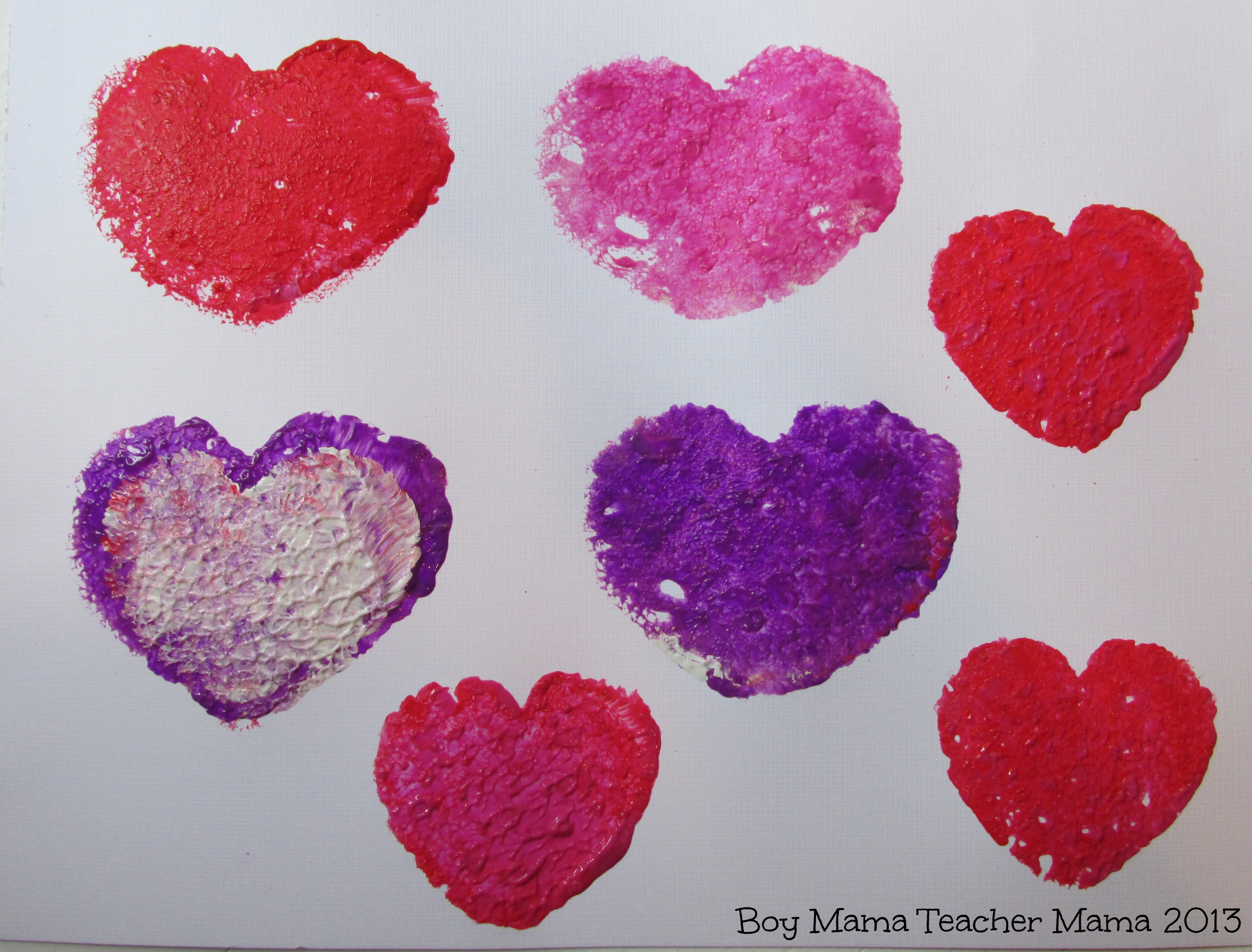 Boy Mama Heart Sponge Painting Without The Mess Boy
