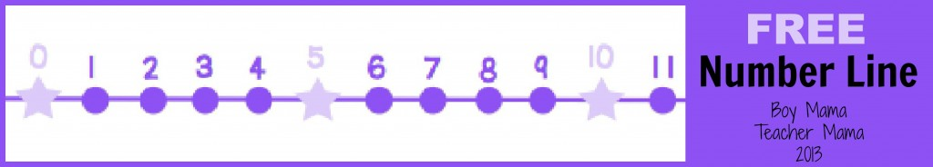 Boy Mama Teacher Mama: FREE Number Line