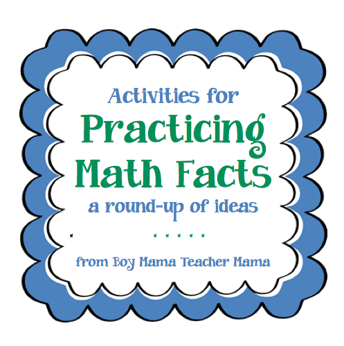 Teacher Mama: Activities for Practicing Math Facts...A Round-up ...