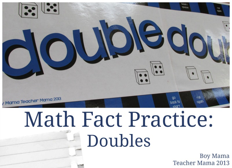Boy Mama Teacher Mama | Math Fact Practice: Doubles