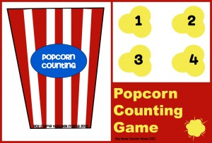 Boy Mama Teacher Mama | Popcorn Counting Game