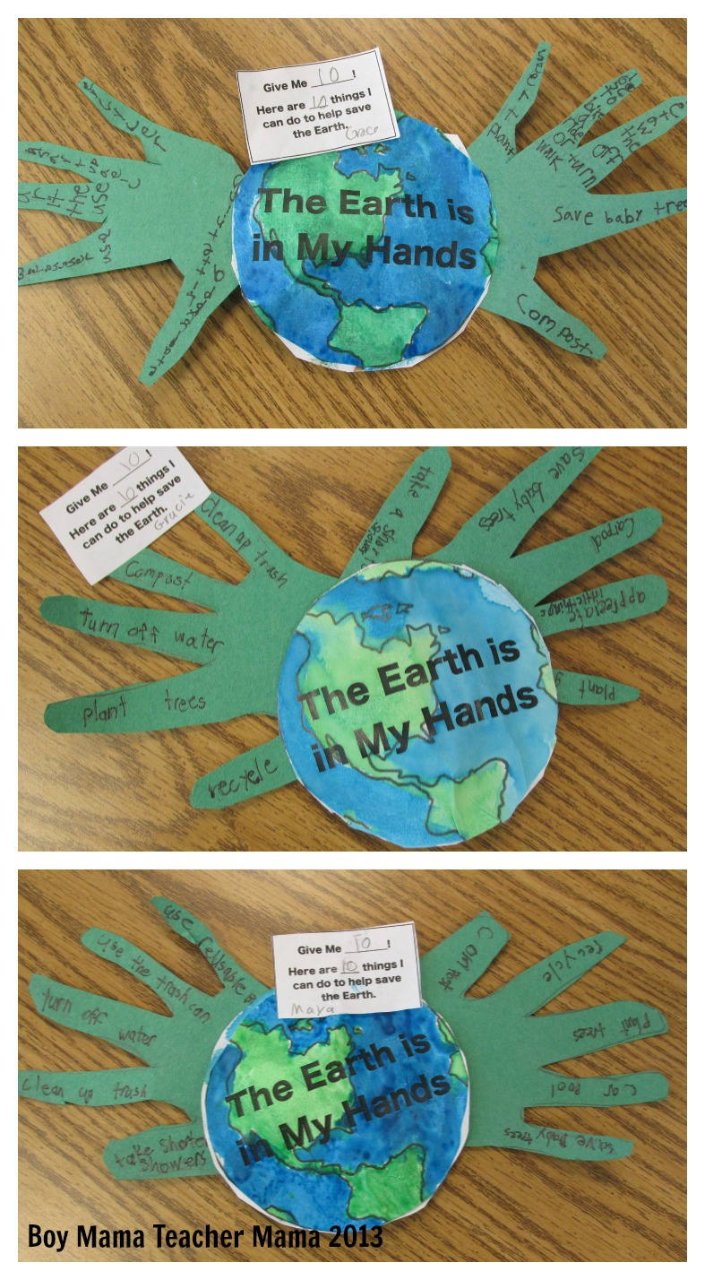 Earth day activity boy mama teacher mama for Do my project