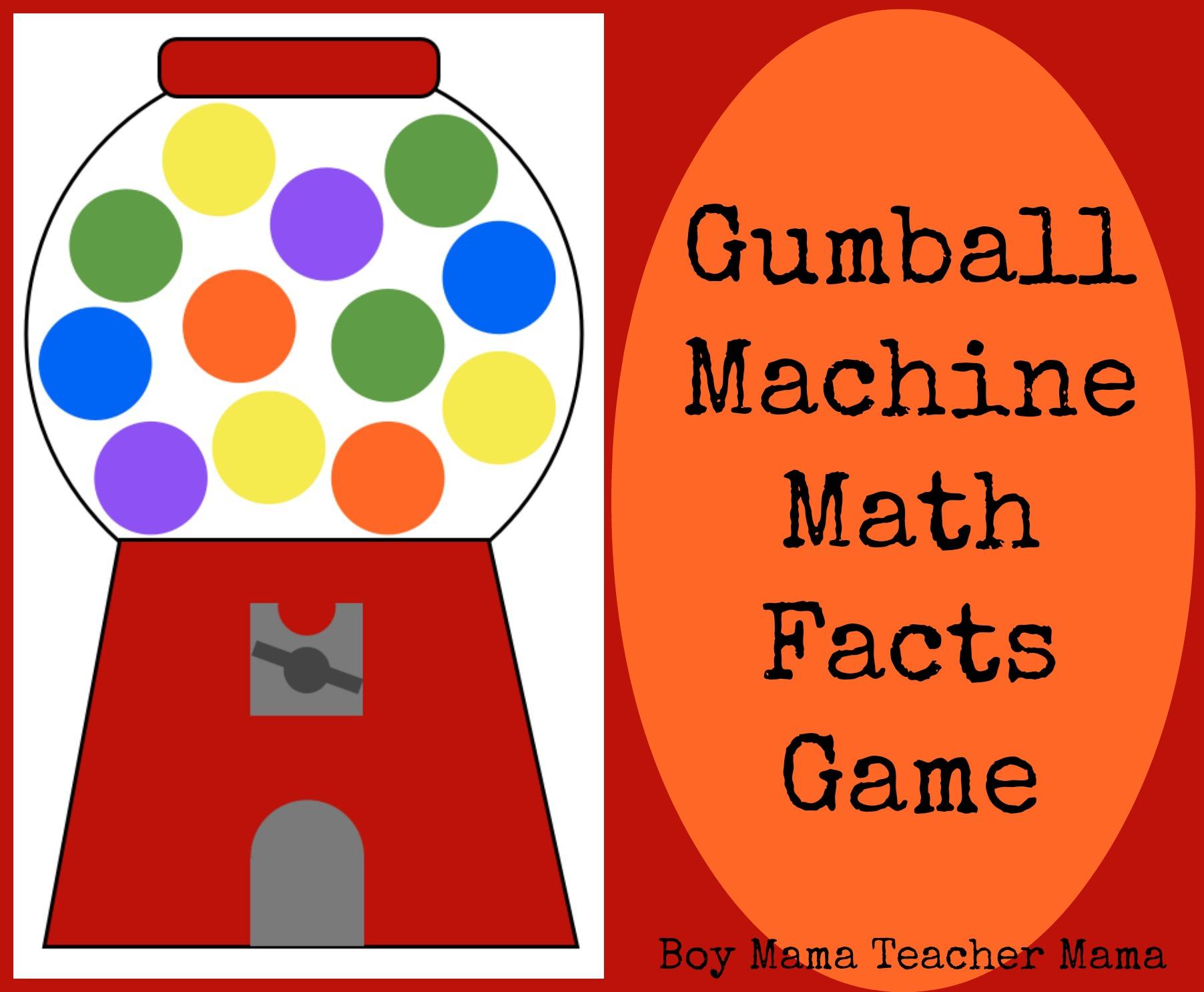 Teacher mama activities for practicing math factsa round up boy mama teacher mama gumball machine math facts game pronofoot35fo Images