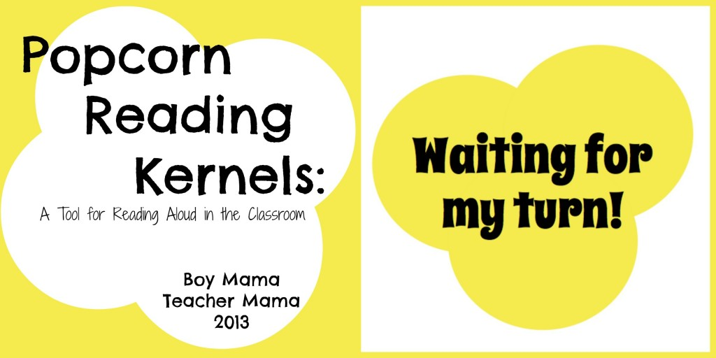 Boy Mama Teacher Mama | Popcorn Reading