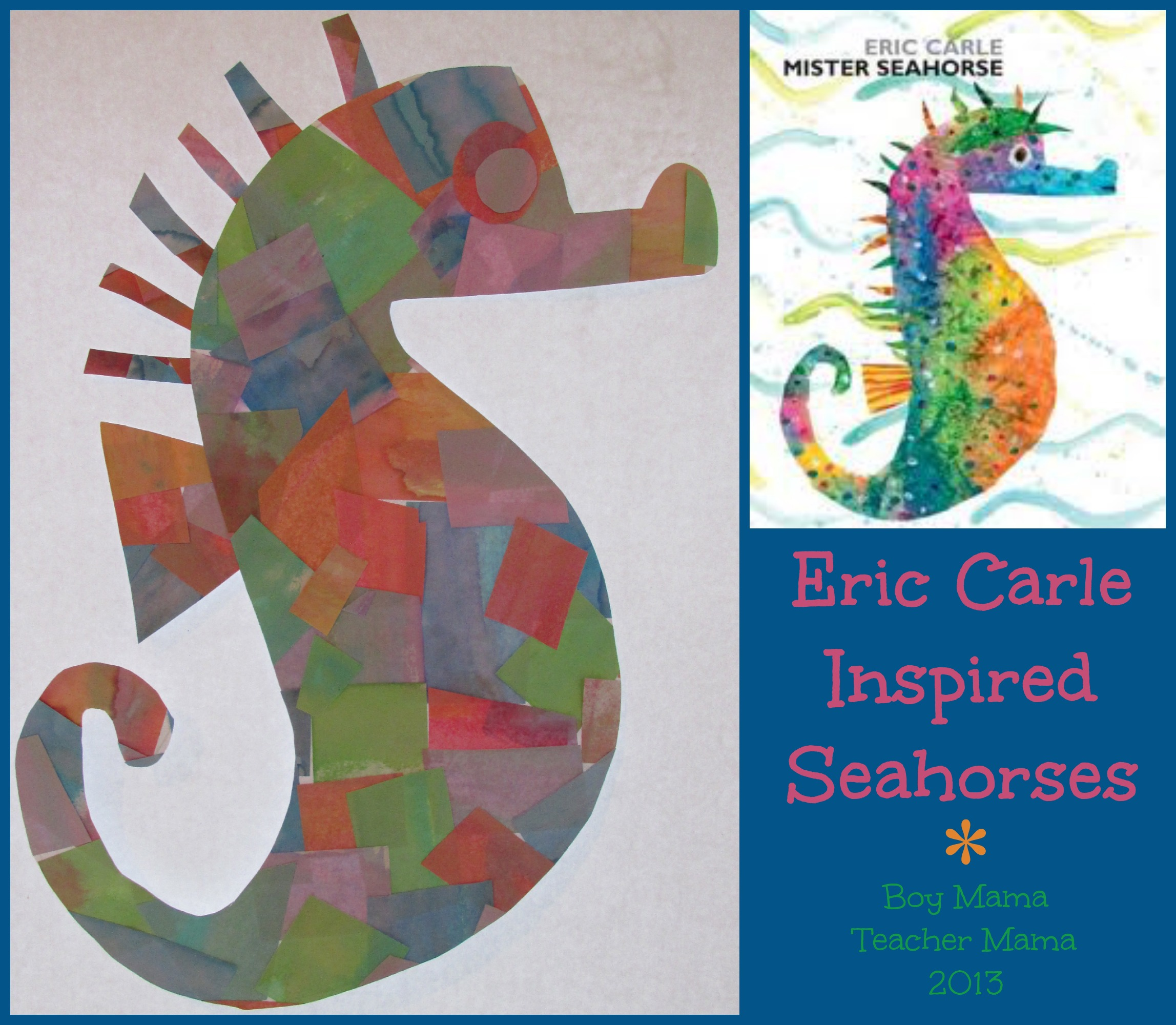 Eric carle inspired seahorses