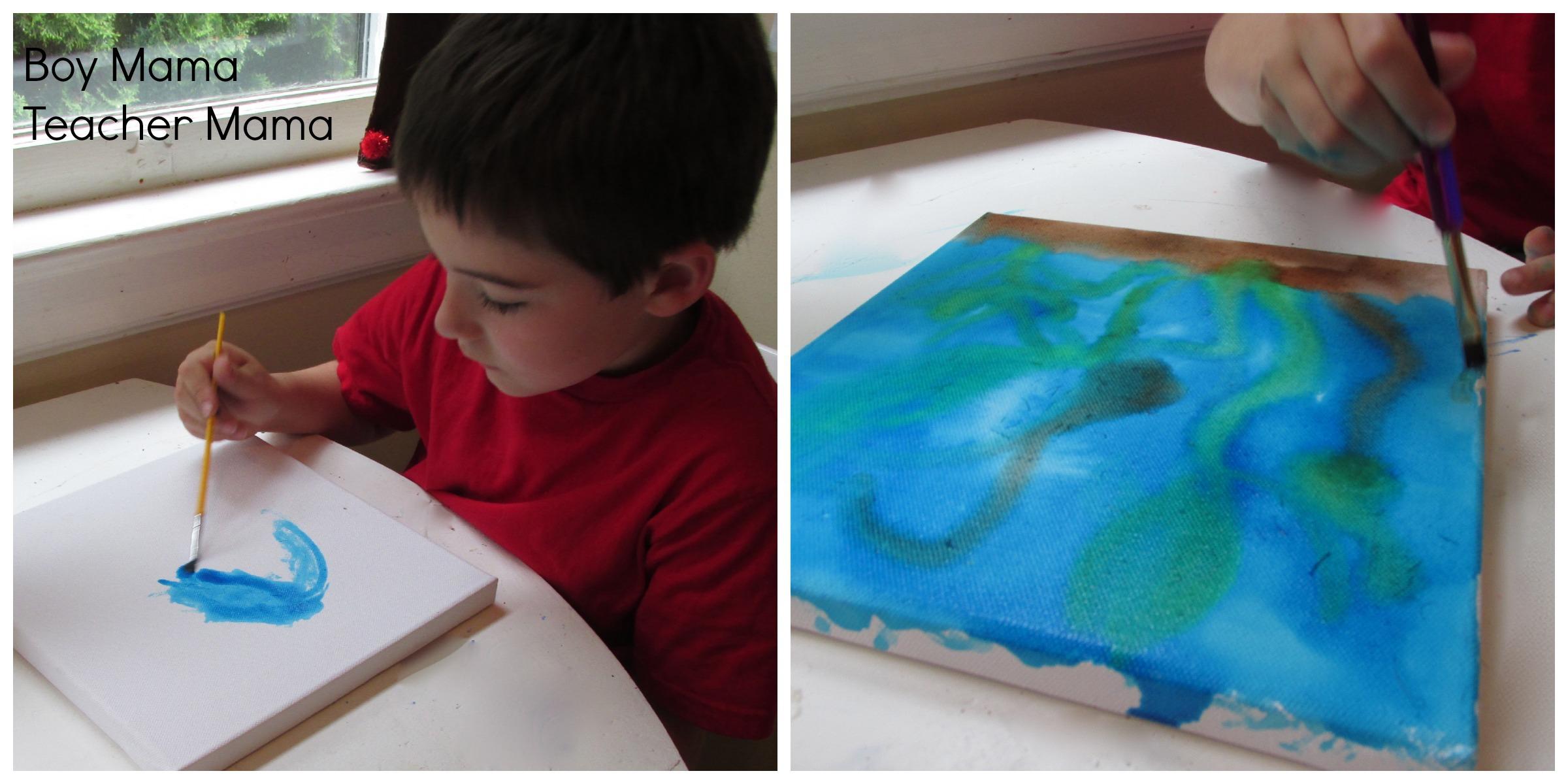 Boy Mama Under The Sea Art Boy Mama Teacher Mama - Ocean floor painting