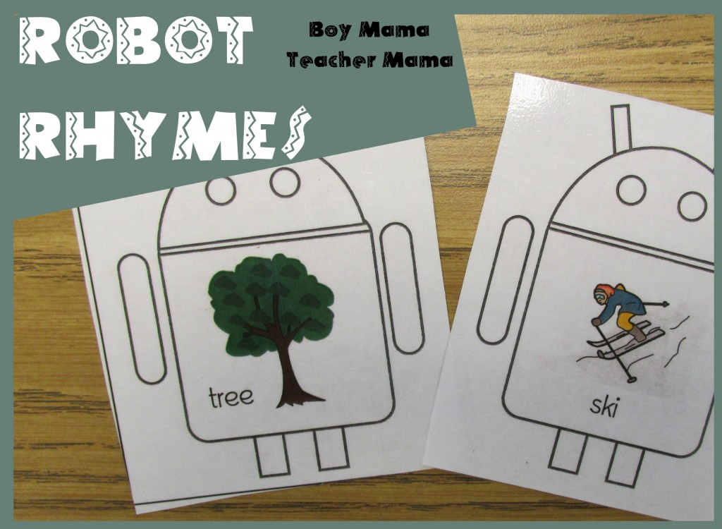 Boy Mama Teacher Mama  Robot Rhymes (featured)