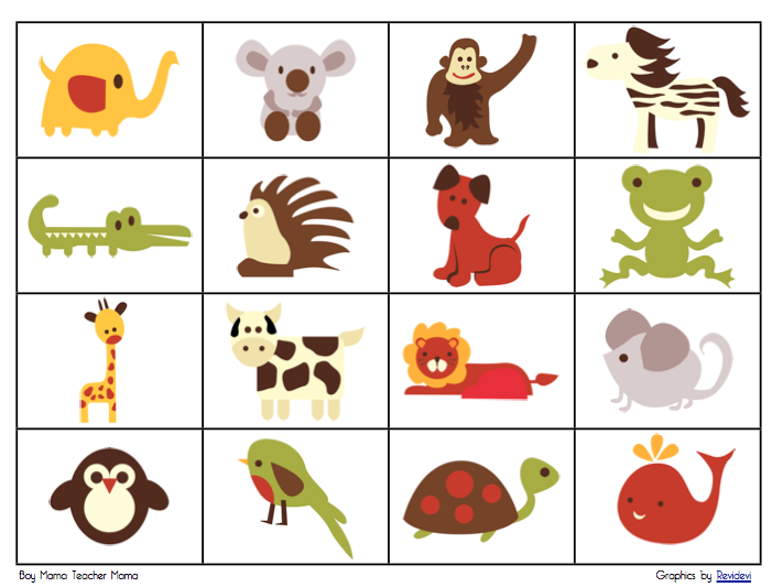 ... to create a freebie for you all. Here it is– Retro Animal Bingo