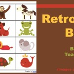 Boy Mama Teacher Mama | Retro Animal Bingo